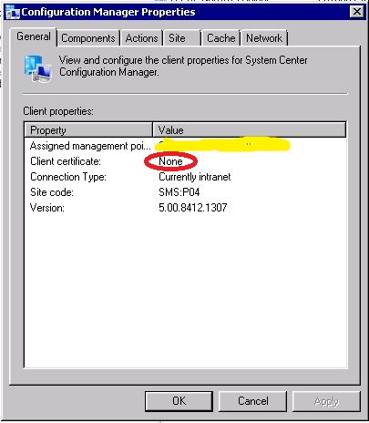SCCM Client Certificate None Issue – IT Reliable